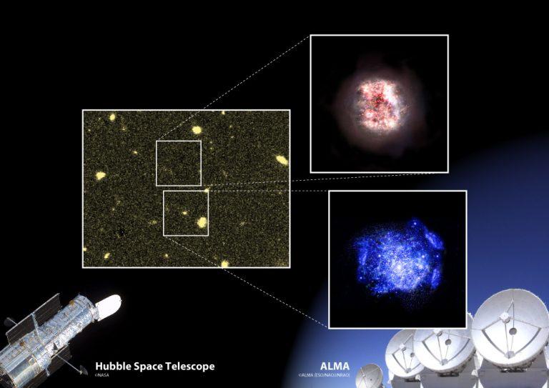 観測史上最古の「隠れ銀河」を131億年前の宇宙で発見
